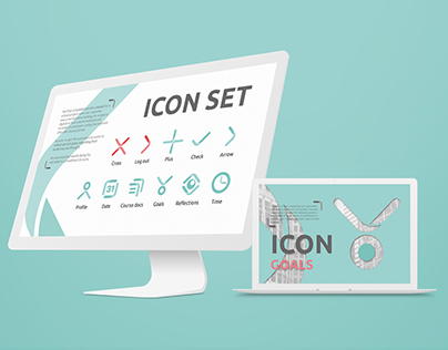 The bend - Icon set with branding possibilites