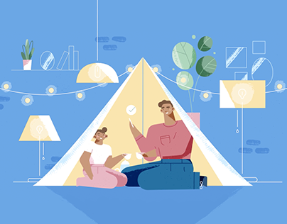 Capital One Explainer Video Illustrations