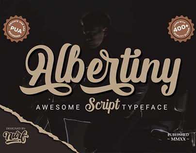 Albertiny | Awesome Script Font