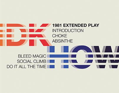 Album Cover Redesign - iDKHOW