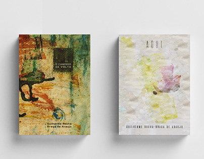 Two poetry book covers