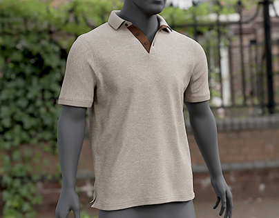 Realistic 3D model of Men's Polo