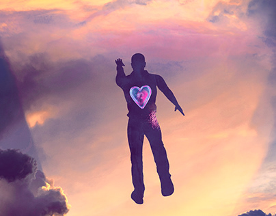 Touch the sky from your heart