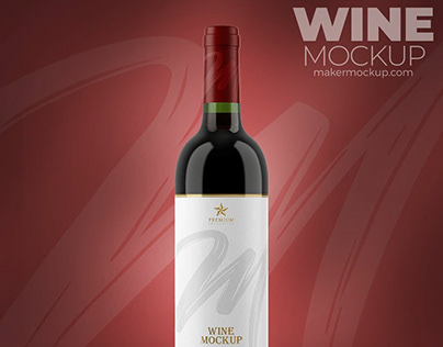 Wine Mockup – Mockup Garrafa de Vinho