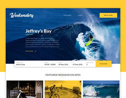 Weekenders Travel - Web Design