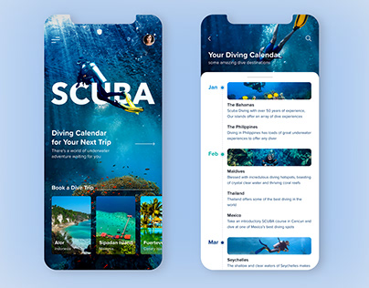 A place to relaxation Mobile App- Travel