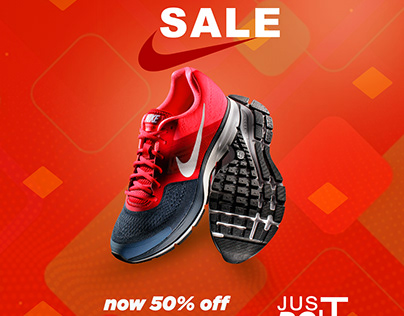 advertising shoes poster