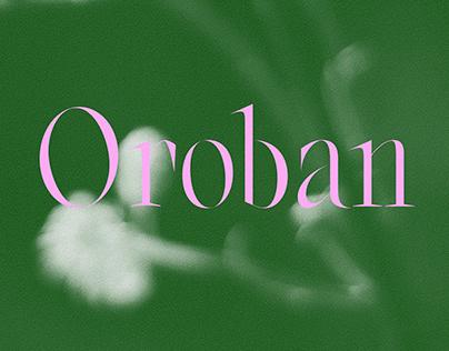 Oroban | Font Family
