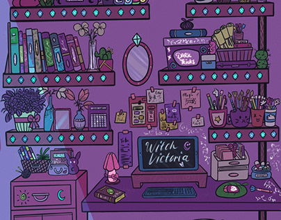 Desk Of A Witch