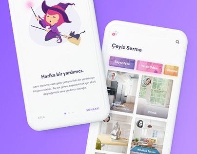 Mobile App Design - Çeyiz Listesi