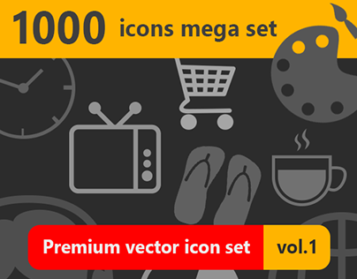 1000 Icons Mega Set