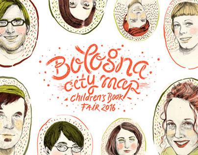 Portraits & Typo - Bologna Children's Book Fair Map