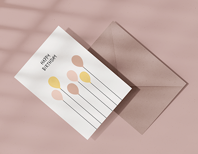 Eökke — Eco Greeting Card — Birthday Balloons