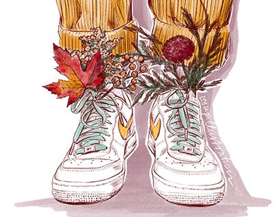 Autumn vibes illustrations