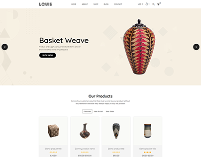 Louis – Handmade & Craft Shopify Theme