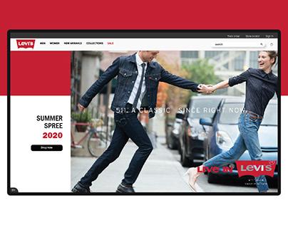 Levis Website Redesign