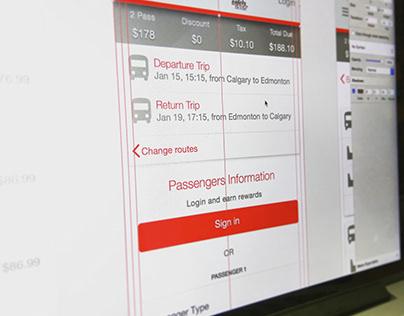 Mobile booking UI design