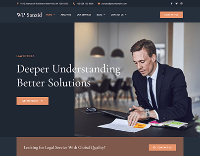 Law lawyer and attorney website design
