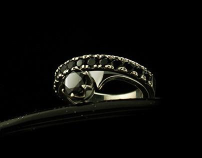 BLACK DIAMOND ENGAGEMENT RING - TYVODAR .COM