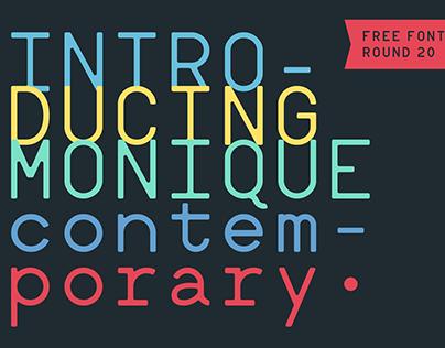 Monique Contemporary (Free font)
