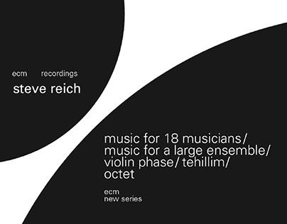 Steve Reich Album Art