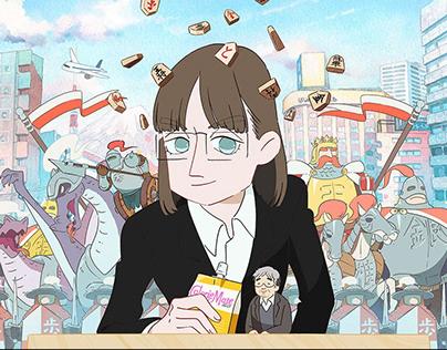 """Susume, Karolina"" web anime"