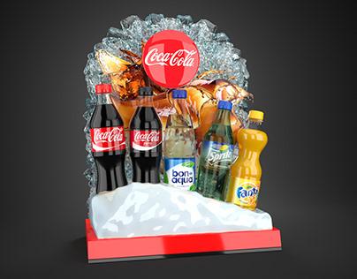 Coca Cola bar display