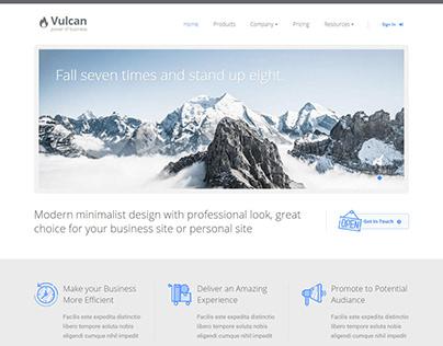 Vulcan - Minimalist Business HTML Template