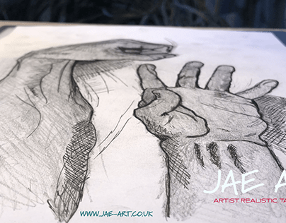 Hand Of Hand Drawing