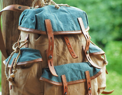 Canvas backpack 101/2021, inspired by Bergan
