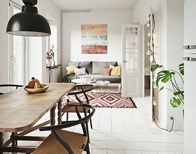 3D Photoreal Interior Rendering - Scandi
