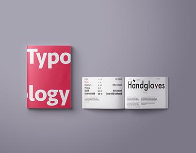 Typology book and futura specimen