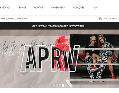 Banners para o site da marca Approve (2019)