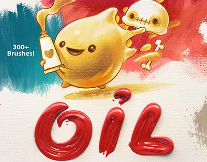 Oil: 300+ brushes for Procreate
