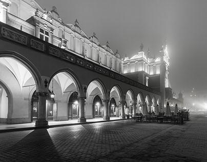 Pictures from the Main Square in Krakow B&W