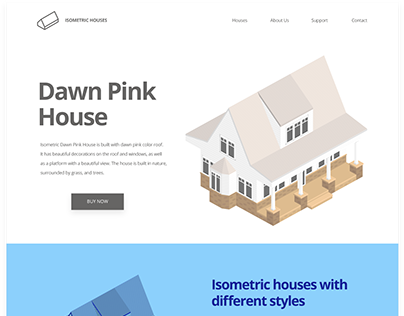 Isometric Dawn Pink House