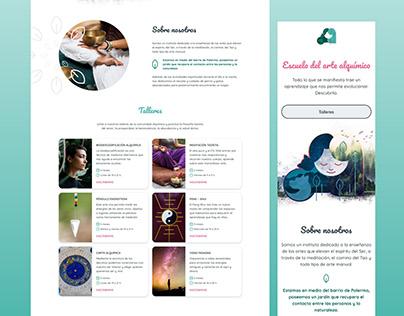 Escuela del arte alquímico   Brand & UI Design
