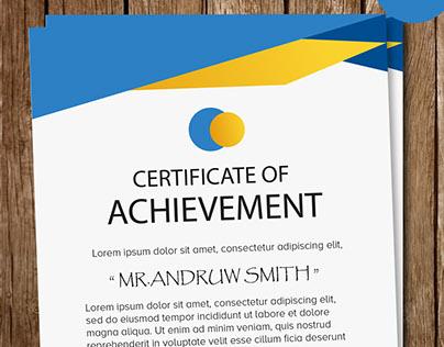 Certificate psd templates