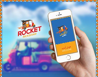 Rocket Rickshaw App UI Design