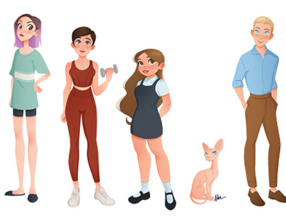 """Del amor y otras pandemias"" Characters Lineup"