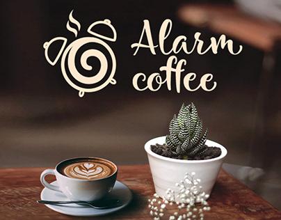 Логотип для кофейни / Alarm coffee