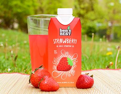 """""""Ben's Best"""" Fruit Juice Packaging"""