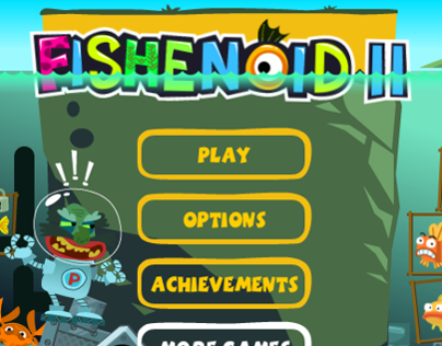 Flash game Fishenoid II