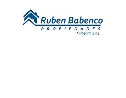 Rediseño de marca inmobiliaria Ruben Babenco / 2012