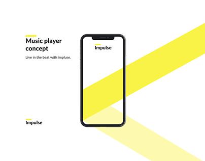 Impulse - Music Player Concept App