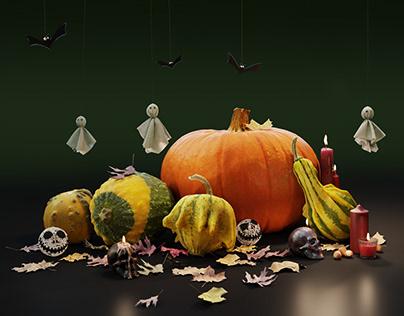 BlenderBoom Free CC0 3D Models - Hallowen Pumpkins