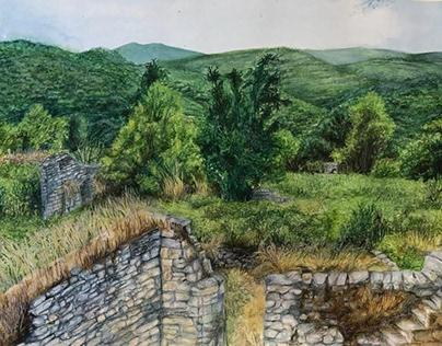 natural view watercolor
