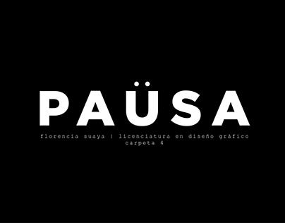 PAUSA | Reel Grado Diseño Gráfico