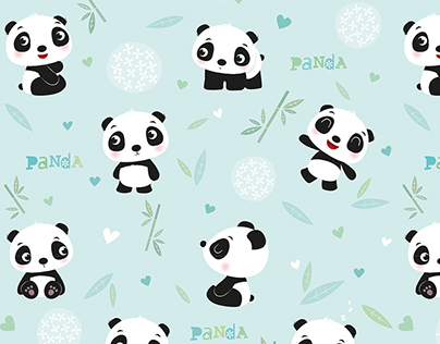 Panda repeat pattern