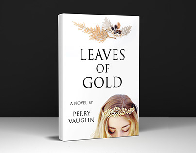 Leaves of gold book cover design